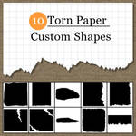 Torn Paper Custom Shapes
