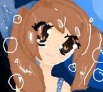 my mermaid Oc Fishie! ( MS Paint)