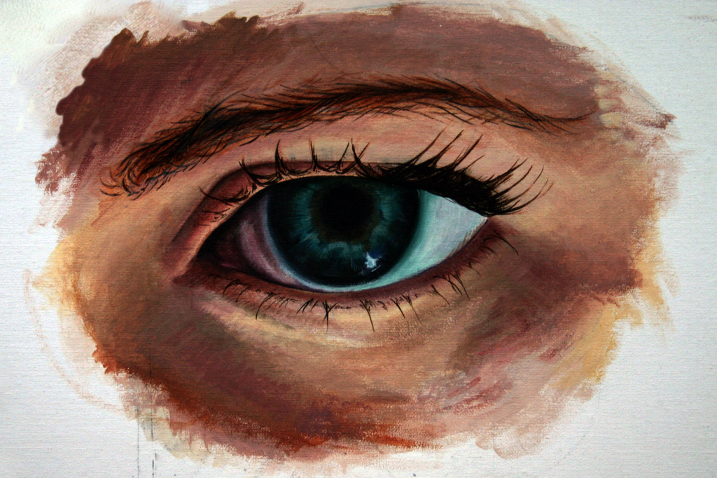 eye acrylic by nathaniel rowland on deviantart On acrylic eye painting