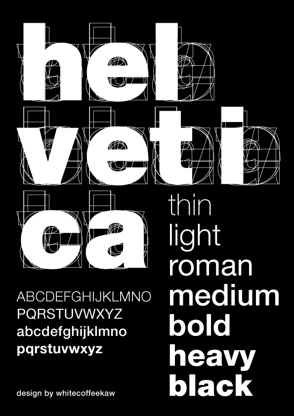 Helvetica by whitecoffeekaw
