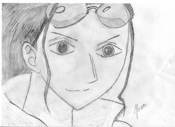 One Piece - Nico Robin Drawing by m7seven