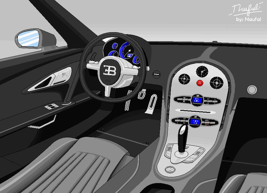 bugatti veyron interior by opalnaufal on deviantart. Black Bedroom Furniture Sets. Home Design Ideas