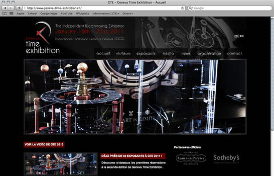 Geneva Time Exhibition Website