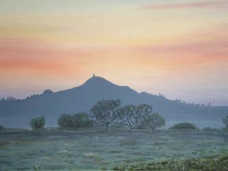 Glastonbury Sunset by Gwion01