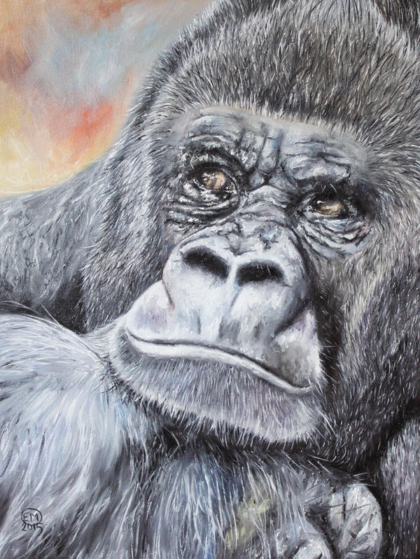 Gorilla by DrawforToffee