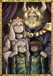 Dreemurr Family Painting by Calista-222