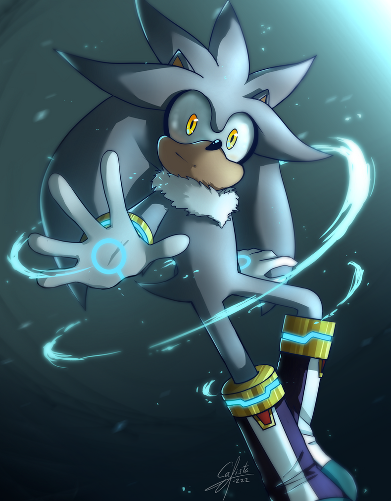 Silver the hedgehog by Calista-222