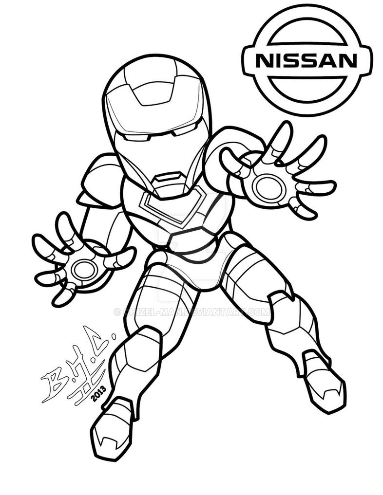 coloring pg lil ironman by chizel man - Coloring Pg