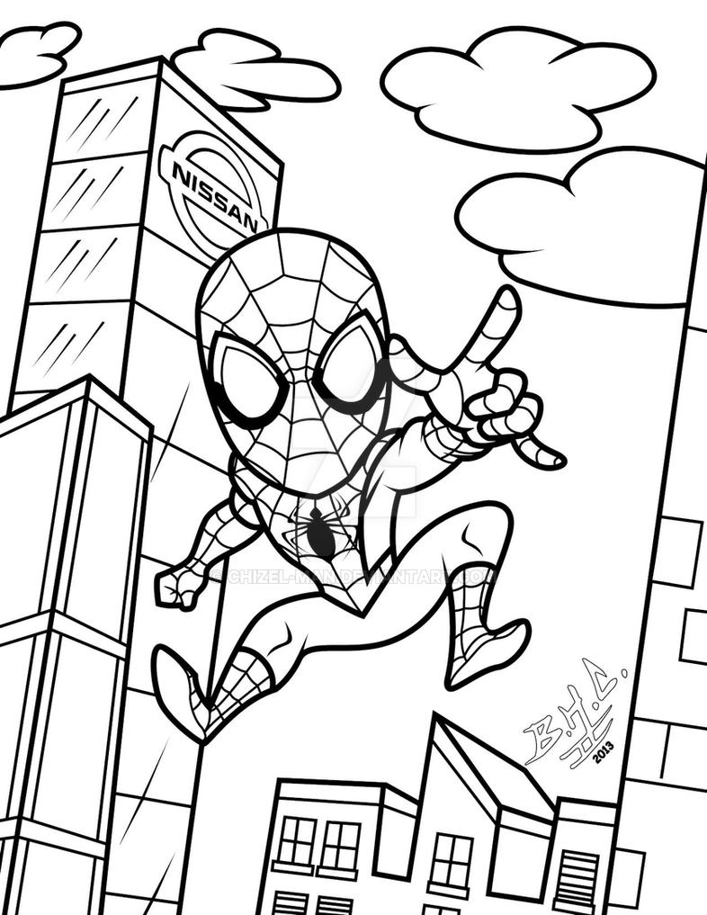 lil wayne coloring pages for kids | Coloring pg Lil-SpidyMan by Chizel-Man on DeviantArt