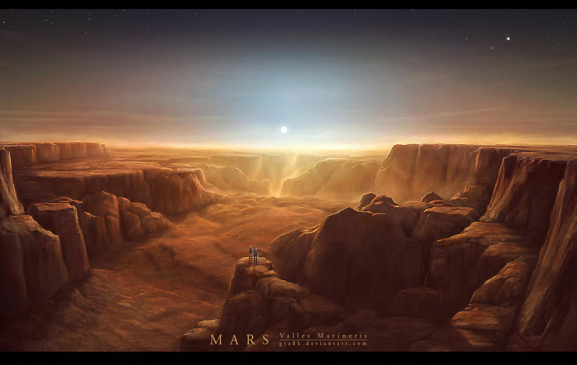 MARS Valles Marineris II by Grafik