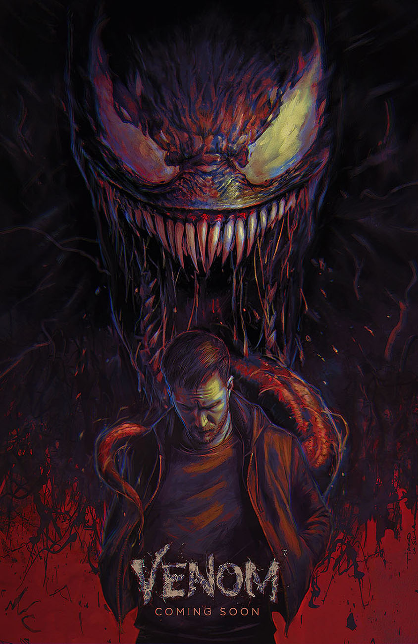 VENOM movie poster illustration by Grafik