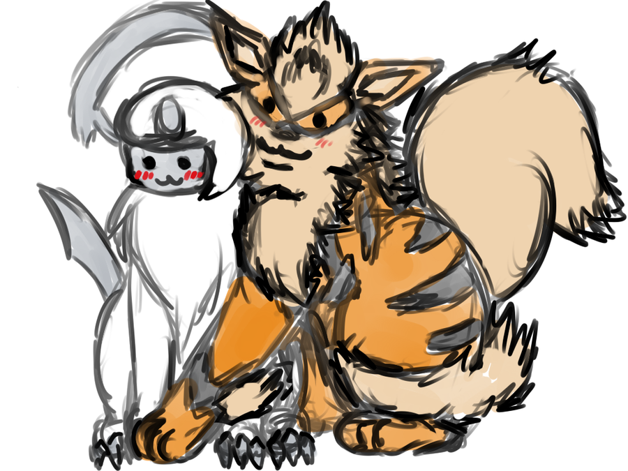[Bild: arcanine_and_absol__by_wavewing-d6agunz.png]