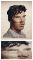 Benedict Cumberbatch cross stitch by konspiracie