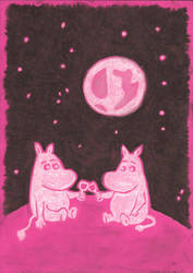 Moomins Relax by Moonlight by jeeno-jenelli