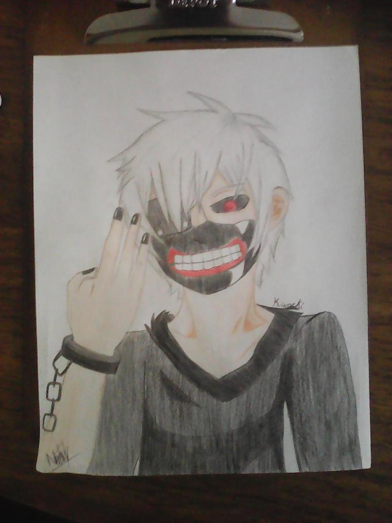 Dibujo a lapiz Kaneki Ken by LinkGirlOG on DeviantArt