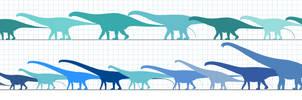 Diplodocidae specimens. by randomdinos