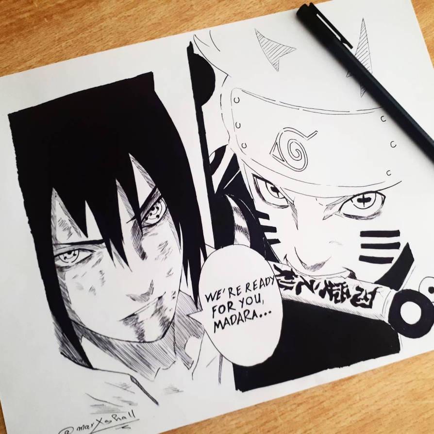 Naruto And Sasuke Vs Madara By Marxshall On Deviantart