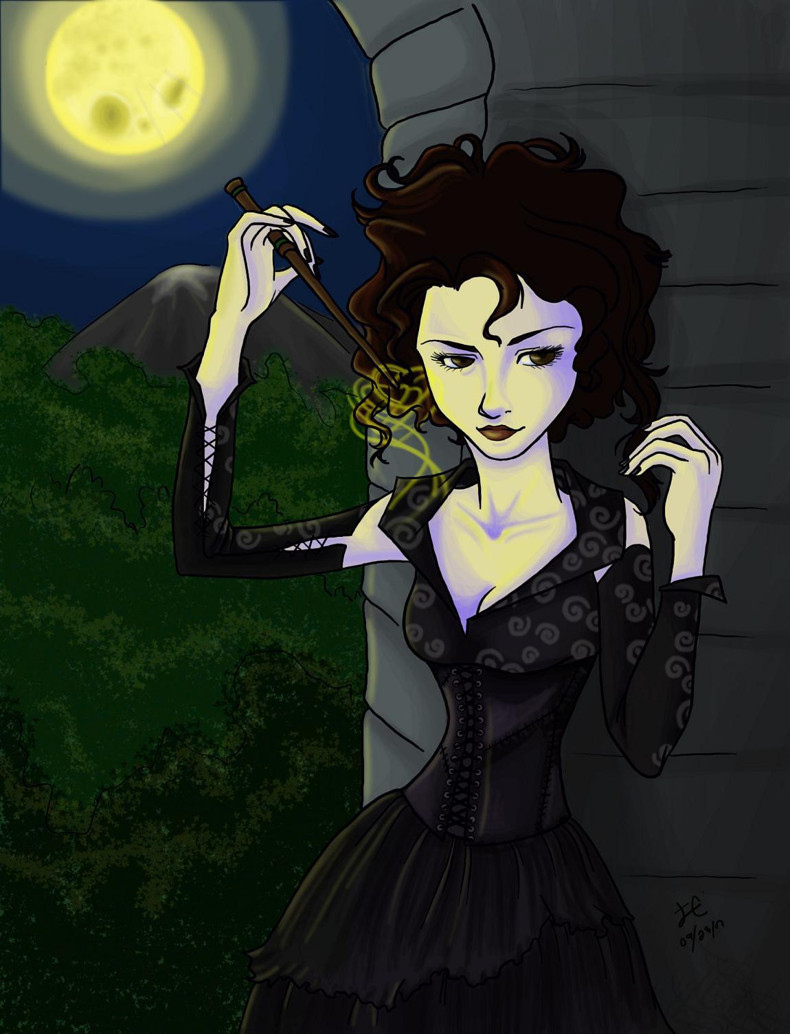 how to draw bellatrix lestrange