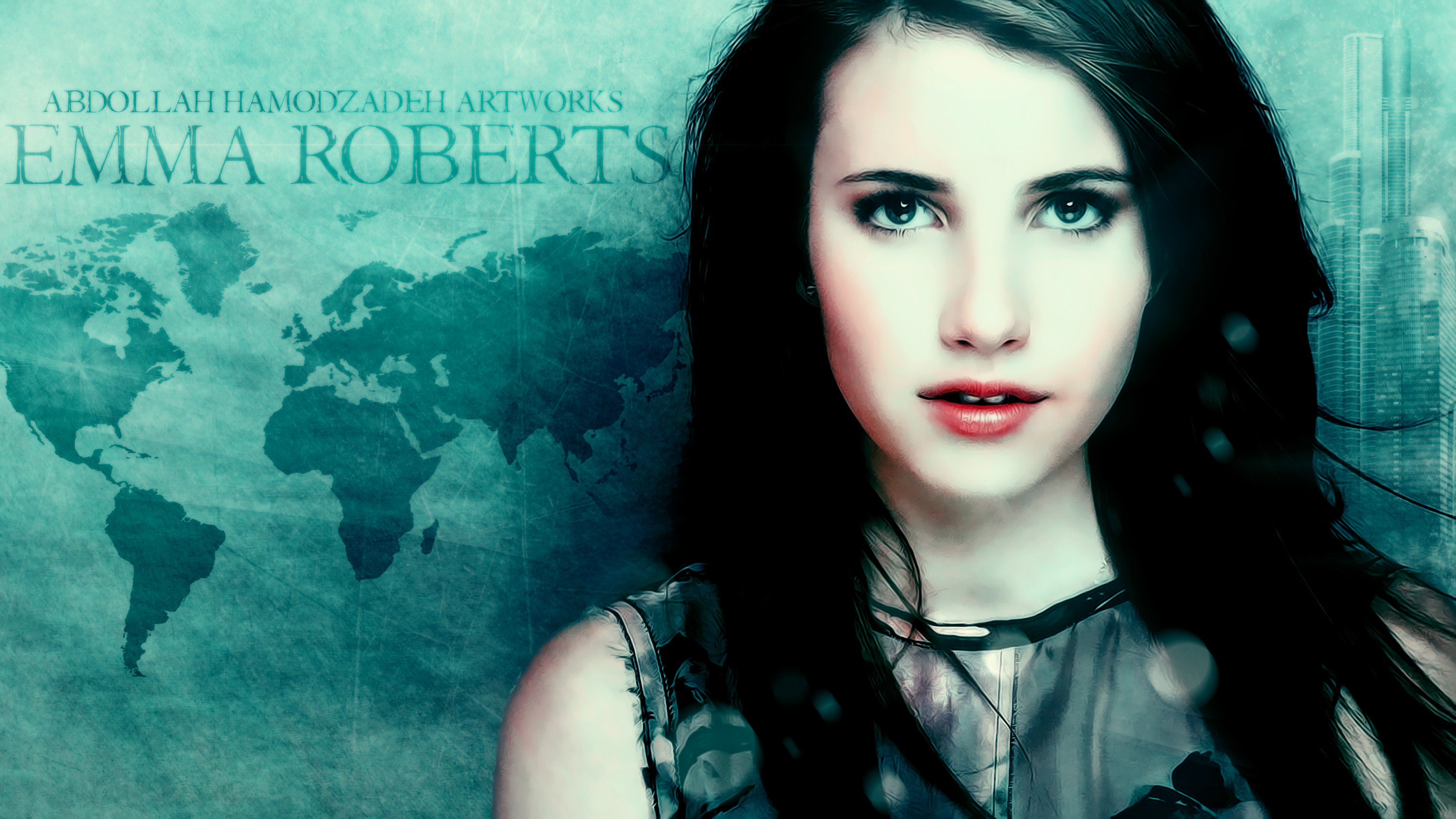 Emma Roberts by  A.H.K by AbdollahHamodzadeh