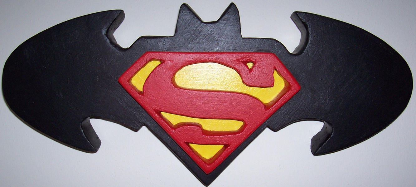 Superman Batman Logo By Fomarcreations On Deviantart
