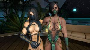 Jade and Mileena