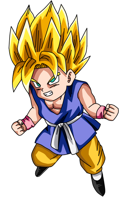 Kid Goku GT SSJ by liciuscontrabici on DeviantArt