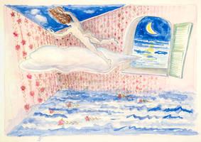 Landing on Clouds by KatyAmlie