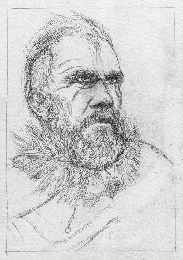Floki from Vikings (sketch) by KatyAmlie