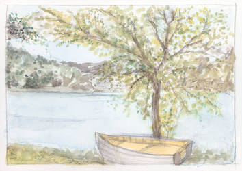 Boat with Tree by KatyAmlie