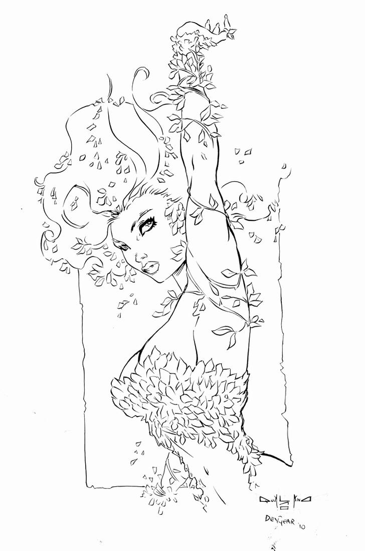 Poison Ivy Inks by devgear on DeviantArt