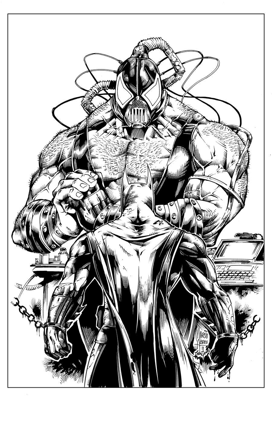 Batman vs Bane by devgear on DeviantArt