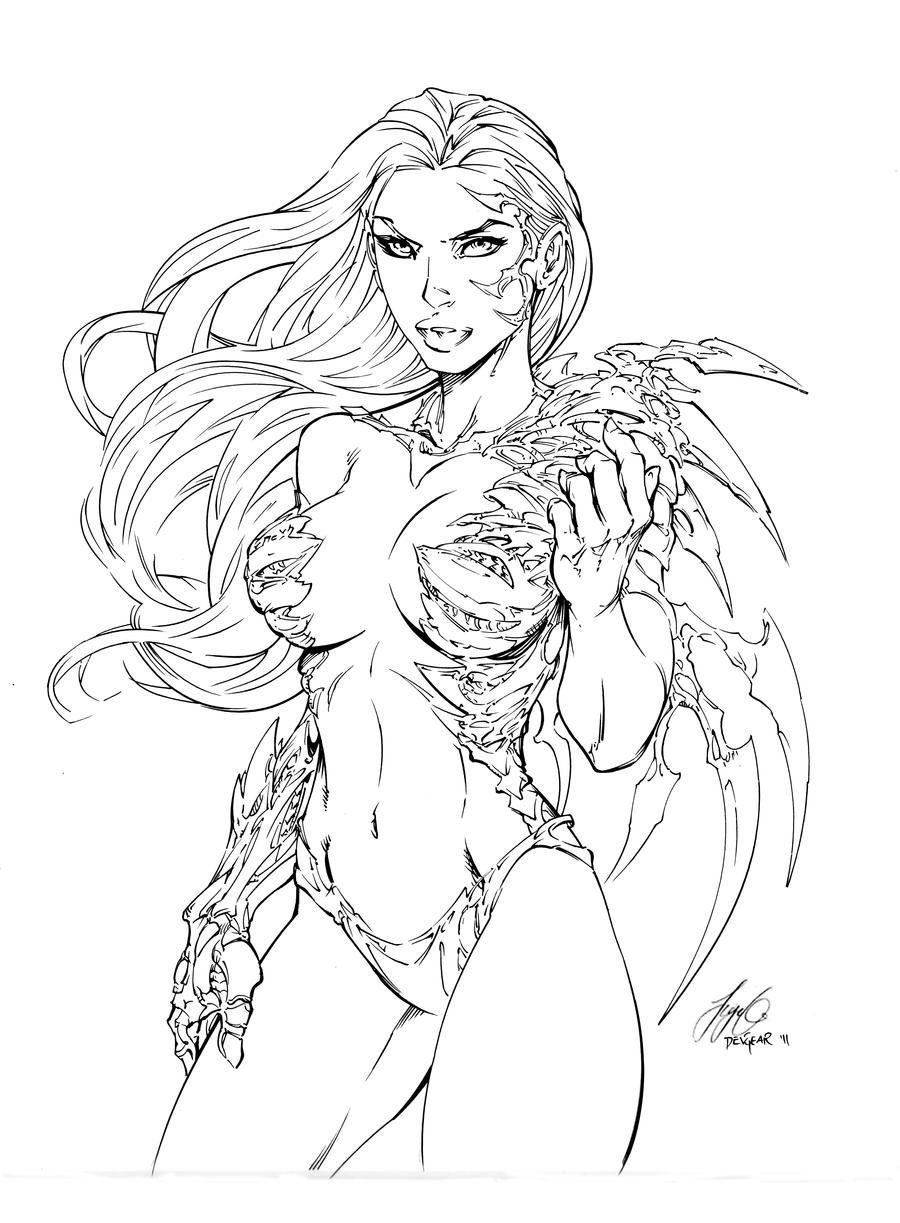 Witchblade Inks By Devgear On Deviantart