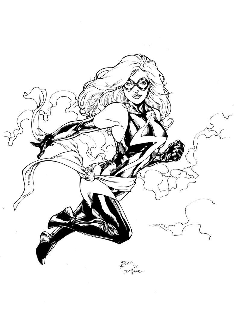 Ms Marvel Inks by devgear
