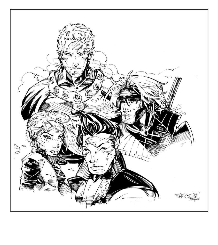 X-Men Inks by devgear