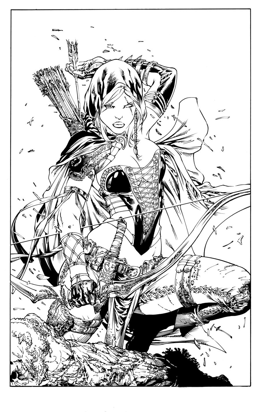 fairy tail coloring pages for adults | Robyn Hood Inks by devgear on DeviantArt