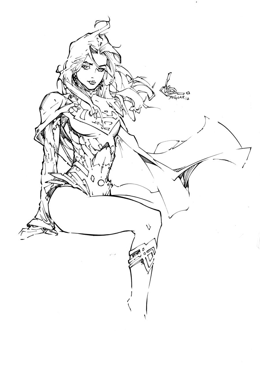 supergirl colouring pages page 2