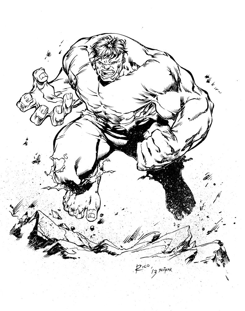 Hulk Inks by devgear on DeviantArt