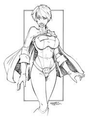 Power Girl Inks by devgear