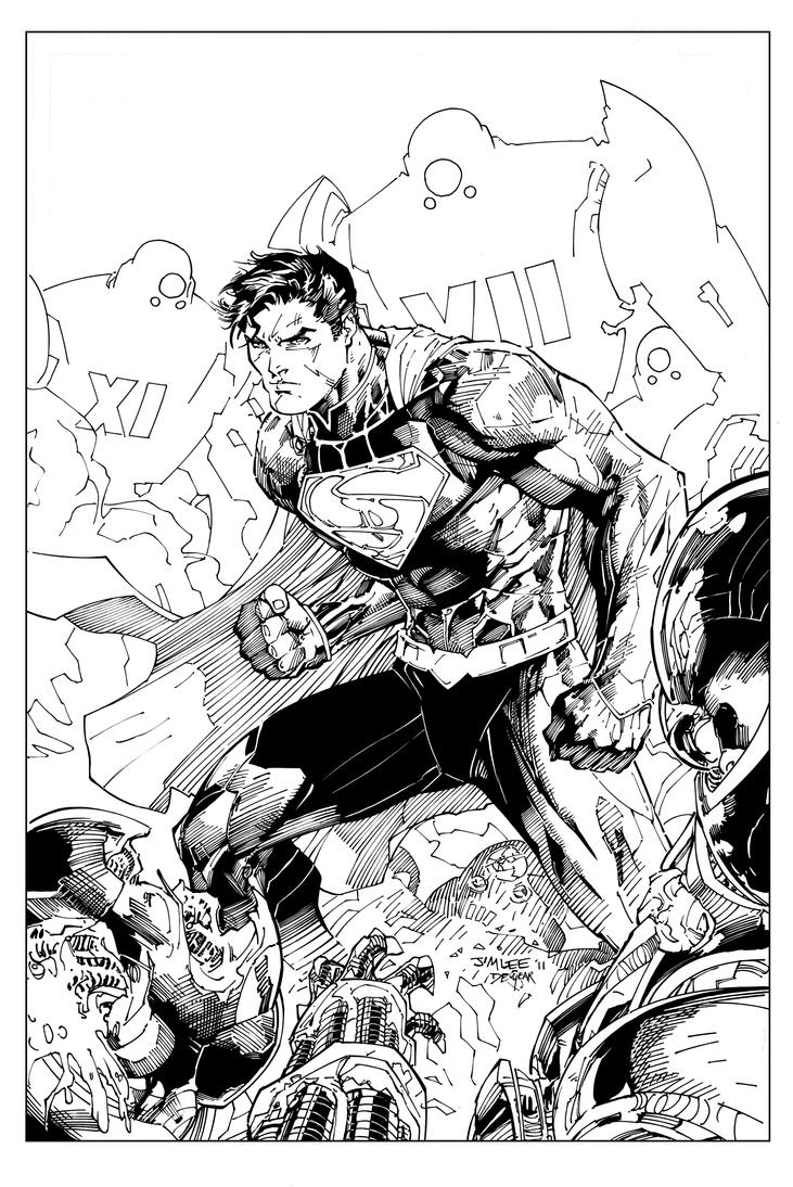 Action Comics 1 Cover Inks by devgear