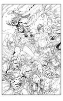 Superman 16 Cover Inks by devgear