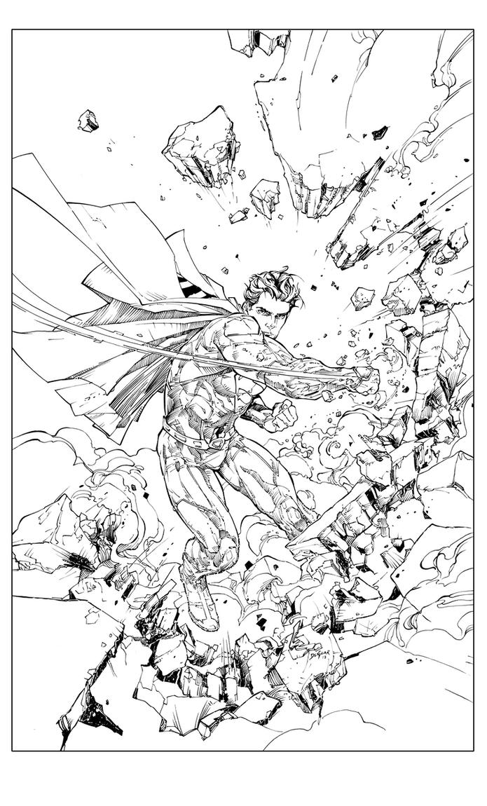 Superman 13Cover Inks by devgear
