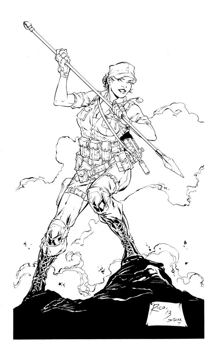 G.I. Joe-Lady Jaye Inks by devgear on DeviantArt
