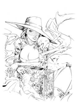 Madame Mirage Cover #1 Inks
