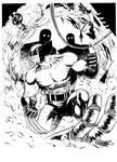 Wolverine vs Sentinels Inks