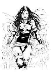 Psylocke Inks 2 by devgear