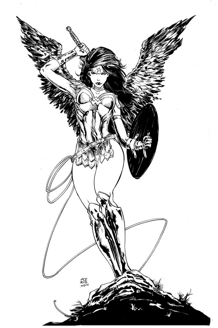 Ace Wonder Woman Inks by devgear