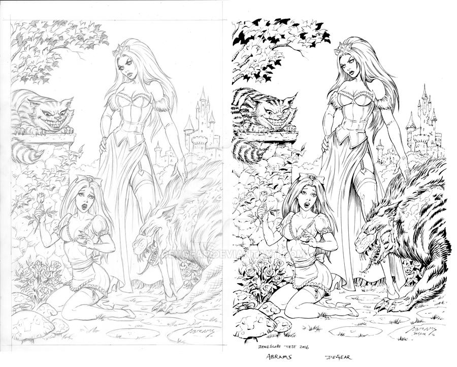 Alice in Wonderland Cover Inks by devgear