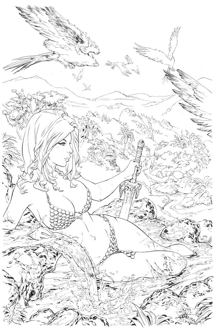 Red Sonja Inks