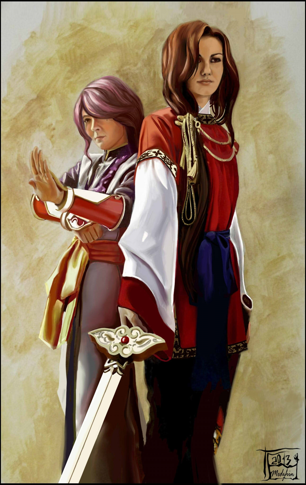 Nuriko and Hotohori. Fushigi Yuugi by Vaishravana on ...