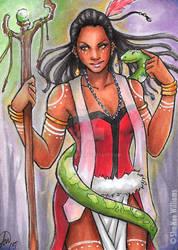 Voodoo Priestess Sketchcard